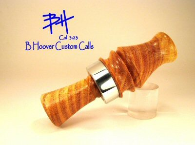 Cross cut Locust single reed duck call