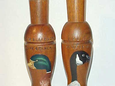 Jim Blakemore (1918-1984) Olive Branch, IL - Duck & Goose Call Set