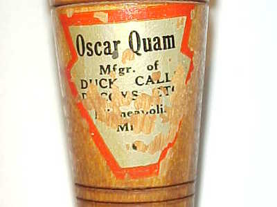 Oscar Quam (1887-1969) Minneapolis, MN - Early Duck Call